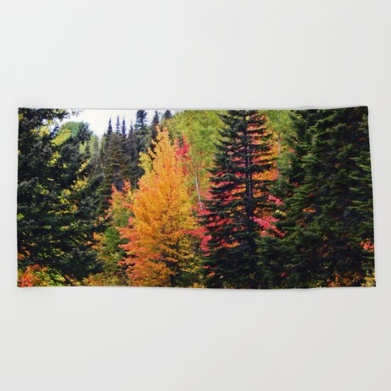 Deep in the Forest (Fall Colors) Beach Towel