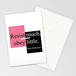 Resist much, obey little Stationery Cards