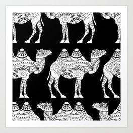 camel black Art Print