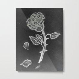 Negative Rose Metal Print