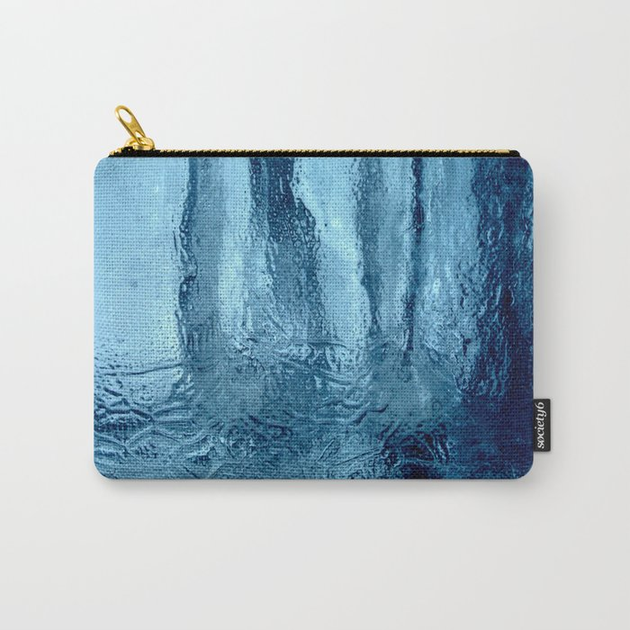 Ice with blue tonnes in a cold winter Carry-All Pouch