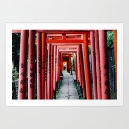 Torii Tunnel Art Print