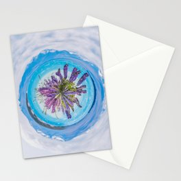 Purple lupines - tiny planet Stationery Cards