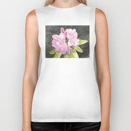 Pink Rhododendron Biker Tank