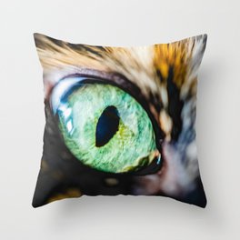 Emerald Cat Eye Photo Throw Pillow