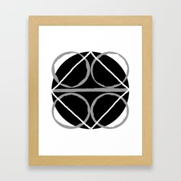Geometric Unity Centered in a Circle Framed Art Print