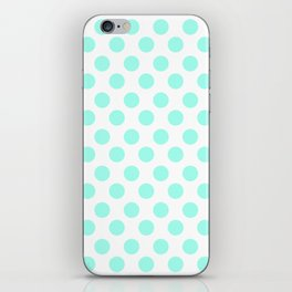 Mint Polka Dots iPhone Skin