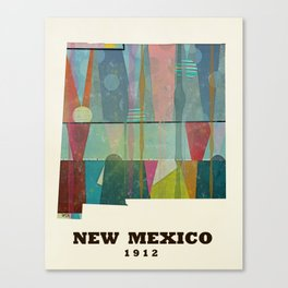 new mexico map modern Canvas Print