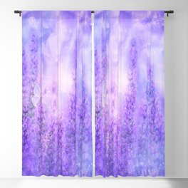 Lavender fields Blackout Curtain