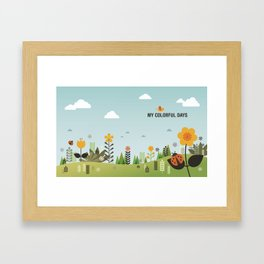 My Colorful Days Framed Art Print