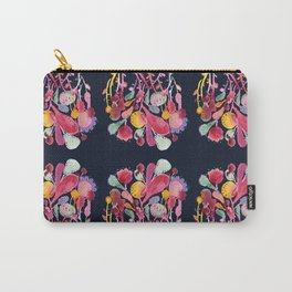 Midnight Blue Floral Carry-All Pouch