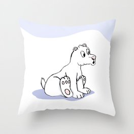 Surprise in Christmas Time Throw Pillow