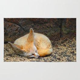 Time to Sleep Little Fennec Fox Rug
