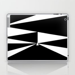 Triangles in Black and White Laptop & iPad Skin