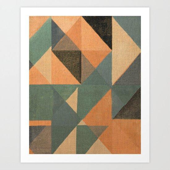 Trigonale 7 Art Print