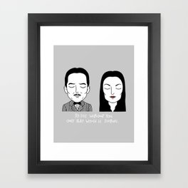 G & M Framed Art Print