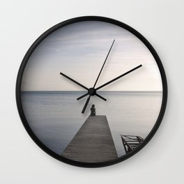 Mermaid at Sunset - Landscape Photography Wall Clock