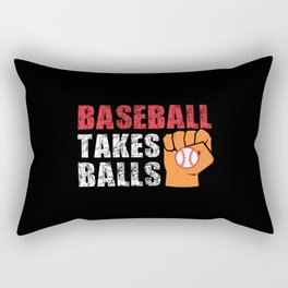 Baseball takes Balls Rectangular Pillow