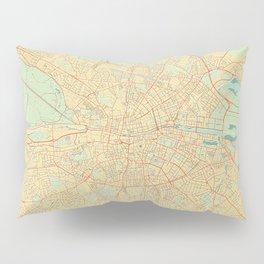 Dublin Map Retro Pillow Sham