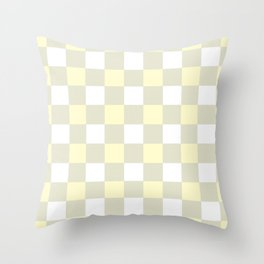 Gingham (Cream/White) Throw Pillow