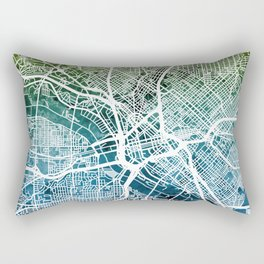 Dallas Texas City Map Rectangular Pillow