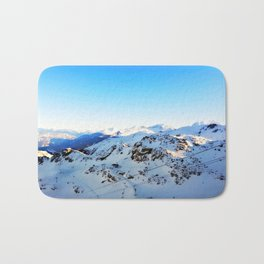 Shades of blue at the mountains Bath Mat