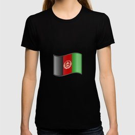 Waving Afghanistan Flag T-shirt