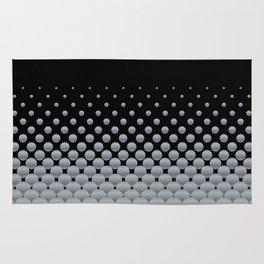 Grey Ball Background Rug