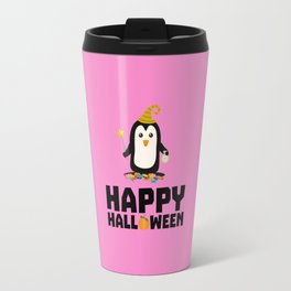 Happy Halloween Witch Penguin T-Shirt D1niv Travel Mug