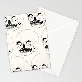 Moustatche Skull Stationery Cards
