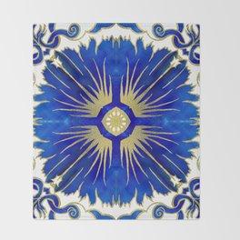Azulejos - Portuguese Tiles Throw Blanket