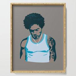 Lenny Kravitz - Portrait III Serving Tray