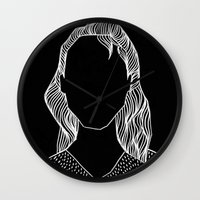 poker Wall Clocks featuring Poker Face by Laura Moreau
