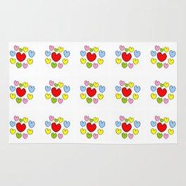 heart 3-heart,love,romantism,girl,sweet, women,romantic,cute,beauty,multicolor Rug