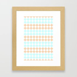 Little Diamonds Framed Art Print