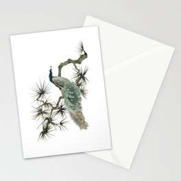 Turquoise Peacock Stationery Cards