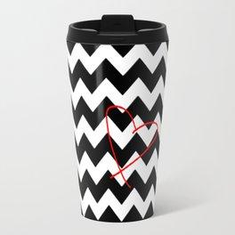 CHEVRON&HEART Travel Mug