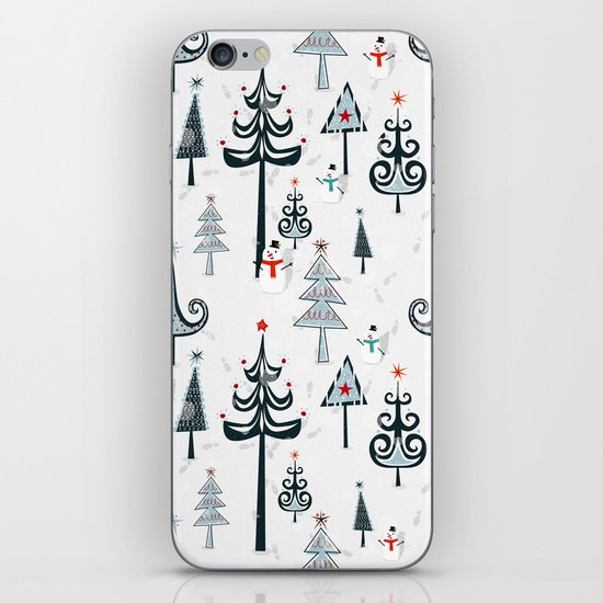 Christmas Tree Forest iPhone & iPod Skin