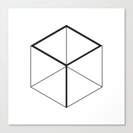 OutlineCube Canvas Print