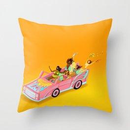 Take the Ride Throw Pillow
