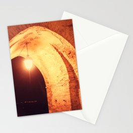 Night in Downtown Montefiore dell'Aso (2 of 2 color choices) Stationery Cards
