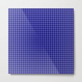 Classic Small Navy Blue Tartan Check Check Pattern Metal Print