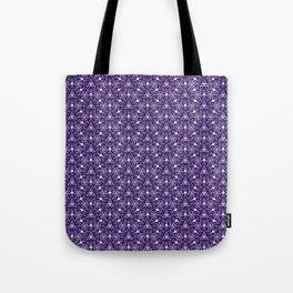 Feminine Energy Deep Purple and Lavender Lines Female Spirit Organic Tote Bag