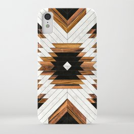 Urban Tribal Pattern No.5 - Aztec - Concrete and Wood iPhone Case