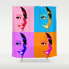 Keisha D POP! 4 Color Shower Curtain