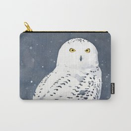 Snowy Owl watercolor Carry-All Pouch
