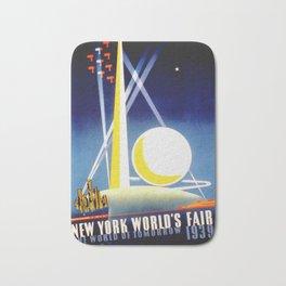 Vintage New York World's Fair 1939 Travel Bath Mat