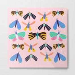 Colorful moth pattern Metal Print
