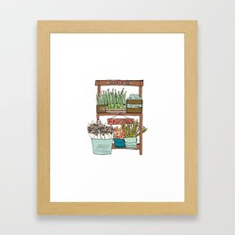 Mei's Farm Stand Framed Art Print
