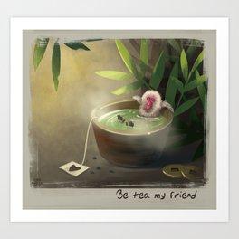 Sauna Monkey Art Print